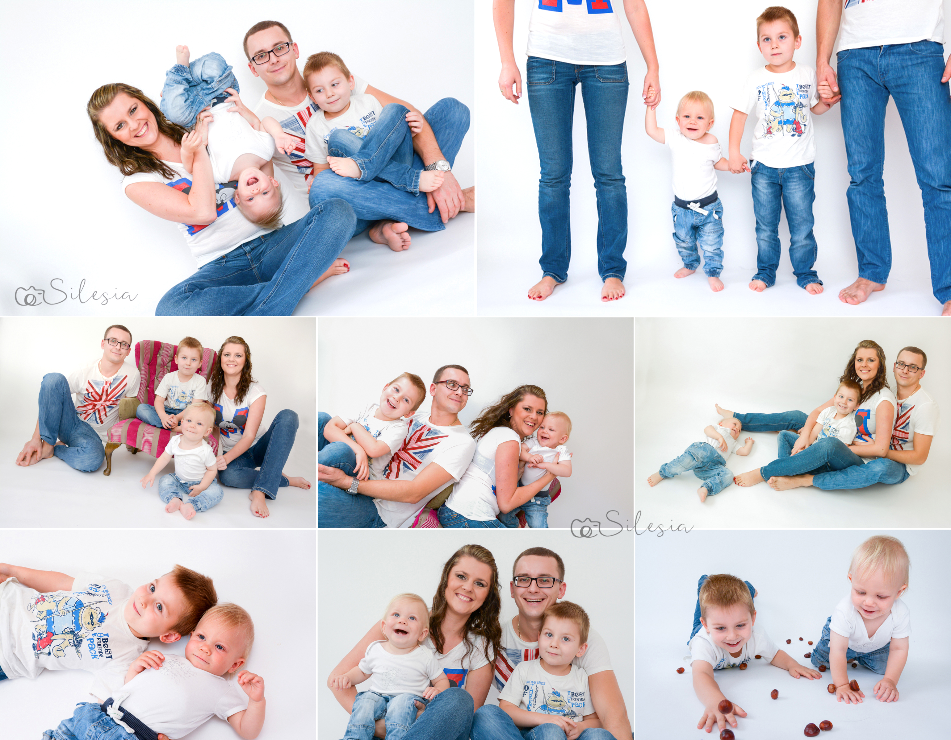 Family photography in my studio